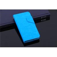 Чехол флип-подставка с отделением для карт для Alcatel One Touch Pop 2 (4.5) Голубой