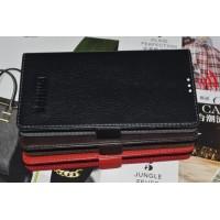 Кожаный чехол портмоне (нат. кожа) на клеевой основе для Philips S398