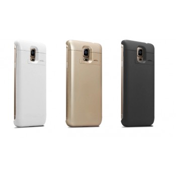 Пластиковый чехол/экстра аккумулятор (4600 мАч) с подставкой для Samsung Galaxy Note 4