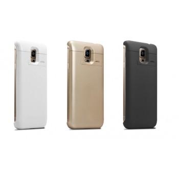 Пластиковый чехол/экстра аккумулятор (3000 мАч) с подставкой для Samsung Galaxy Note 4