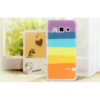 Пластиковый матовый дизайнерский чехол с принтом для Samsung Galaxy E5
