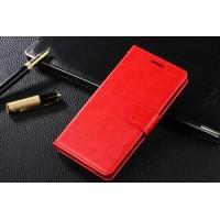 Чехол портмоне подставка с защелкой для Samsung Galaxy A5 Красный