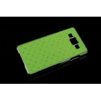 Пластиковый чехол со стразами для Samsung Galaxy A5 Зеленый