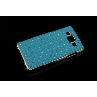 Пластиковый чехол со стразами для Samsung Galaxy A5 Голубой
