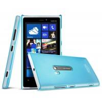 Тонкий пластиковый чехол для Nokia Lumia 920 Голубой