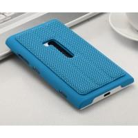 Текстурный чехол подставка для Nokia Lumia 920 Голубой