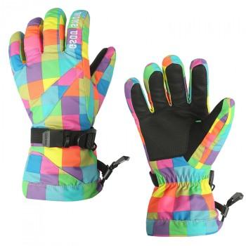 Водонепроницаемые ветрозащитные сенсорные (полноладонные) горнолыжные перчатки с ремешком размер L