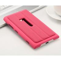 Текстурный чехол подставка для Nokia Lumia 920 Розовый
