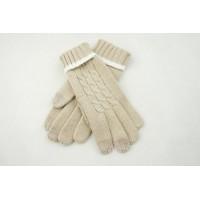 Вязаные шерстяные сенсорные (трехпальцевые) женские перчатки дизайн Коса  для Samsung Galaxy Grand (Duos, GT-I9080, GT-I9082, I9080, i9082)