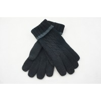 Зимние вязаные шерстяные сенсорные (трехпальцевые) женские перчатки дизайн Коса  для HTC Desire 820 (820S, dual sim, 820G)