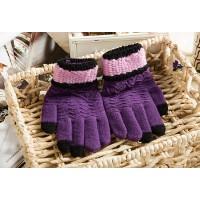 Шерстяные сенсорные (трехпальцевые) перчатки с вышивкой  для LG K7