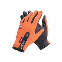 Спортивные нескользящие ветрозащитные водоотталкивающие сенсорные (двухпальцевые) перчатки размер S