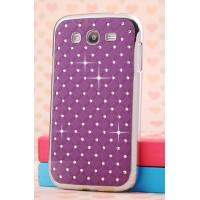 Пластиковый чехол со стразами для Samsung Galaxy Grand Фиолетовый