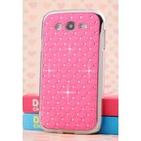 Пластиковый чехол со стразами для Samsung Galaxy Grand Розовый