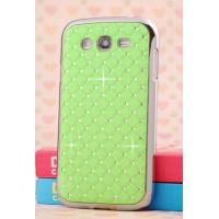 Пластиковый чехол со стразами для Samsung Galaxy Grand Зеленый