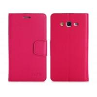 Чехол портмоне подставка на силиконовой основе с защелкой для Samsung Galaxy Grand Красный