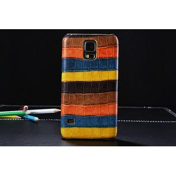 Кожаный дизайнерский чехол накладка (нат. кожа крокодил) серия Back Cover для Samsung Galaxy S5 (Duos)