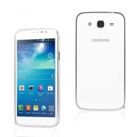 Ультратонкий металлический бампер для Samsung Galaxy Mega 5.8 Белый