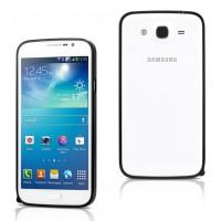 Ультратонкий металлический бампер для Samsung Galaxy Mega 5.8 Черный