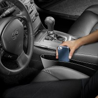 Многофункциональный автомобильный полипропиленовый карман для гаджетов для HTC Desire 200 (102e)