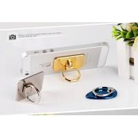 Глянцевое металлическое антиграбежное клеевое кольцо-подставка для одноручного управления гаджетом для Sony Xperia M4 Aqua (E2306, E2353, E2363, E2333, E2312, dual, E2303)