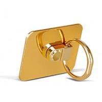 Глянцевое металлическое антиграбежное клеевое кольцо-подставка для одноручного управления гаджетом Желтый