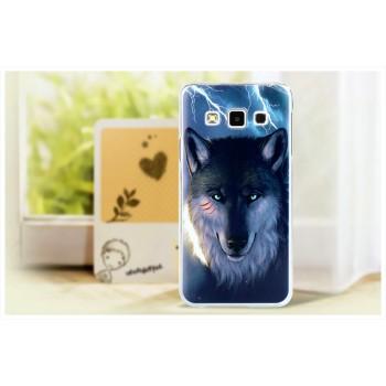 Пластиковый матовый дизайнерский чехол с принтом для Samsung Galaxy A3
