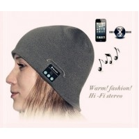 Шерстяная шапка с наушниками, микрофоном и функцией беспроводной bluetooth 3.0 стерео гарнитуры для Nokia Asha 500 (Dual Sim)