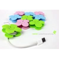 Антизапутыватель кабеля/наушников дизайн LuckyClover для HTC Desire 600 (606w, dual sim)