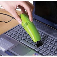 Ультрапортативный USB-пылесос для очистки труднодоступных поверхностей с насадкой-щеткой для HTC One (M7) Dual SIM (802w)