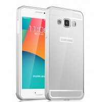Двухкомпонентный чехол с металлическим бампером и поликарбонатной накладкой для Samsung Galaxy A3 Белый