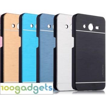 Пластиковый чехол текстура Металл для Samsung Galaxy Core 2