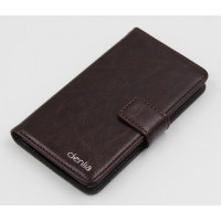 Чехол портмоне подставка с защелкой для Sony Xperia E4 Коричневый