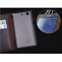 Кожаный чехол портмоне (нат. кожа крокодила) для Sony Xperia E4