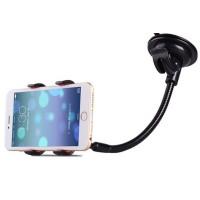 Универсальный автомобильный держатель с 4-мя точками соприкосновения на вакуумной присоске и гибком штативе для гаджетов до 90 мм для HTC One (M7) Dual SIM (802w)