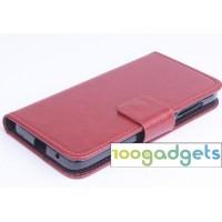 Чехол портмоне подставка с защелкой для Alcatel One Touch Idol 2 mini Коричневый
