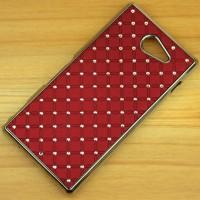 Пластиковый чехол со стразами для Sony Xperia M2 dual Красный