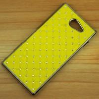Пластиковый чехол со стразами для Sony Xperia M2 dual Желтый
