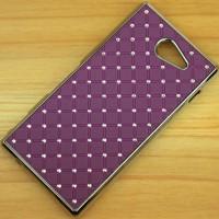 Пластиковый чехол со стразами для Sony Xperia M2 dual Фиолетовый