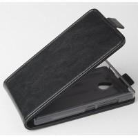 Чехол вертикальная книжка на силиконовой основе с магнитной застежкой для Nokia X2 Черный