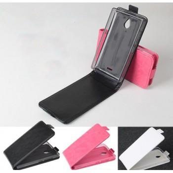 Чехол вертикальная книжка на силиконовой основе с магнитной застежкой для Nokia X2