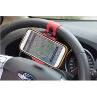 Универсальный автомобильный держатель на руль для гаджетов 55-75 мм для Samsung Galaxy Trend 2 (Duos, sm-g313h, sm-g313nh, g313, s7572)
