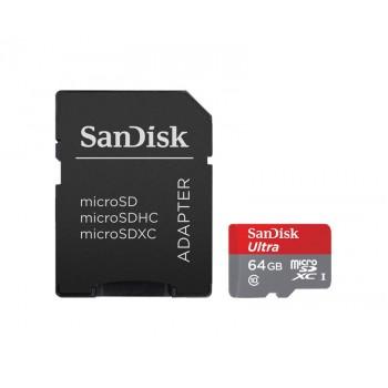 Карта памяти SanDisk Ultra MicroSDXC Class 10 64 Гб