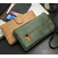 Чехол портмоне подставка с защелкой винтажный для Microsoft Lumia 535
