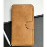 Чехол портмоне подставка с защелкой винтажный для Microsoft Lumia 535 Оранжевый