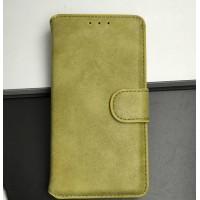 Чехол портмоне подставка с защелкой винтажный для Microsoft Lumia 535 Бежевый