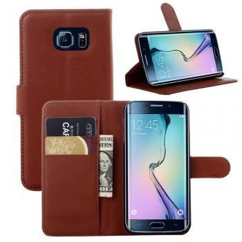 Чехол портмоне подставка с защелкой для Samsung Galaxy S6 Edge