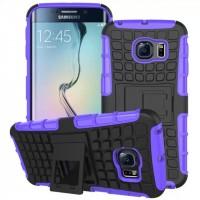 Силиконовый чехол экстрим защита для Samsung Galaxy S6 Edge Фиолетовый