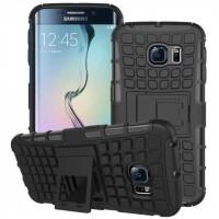 Силиконовый чехол экстрим защита для Samsung Galaxy S6 Edge Черный