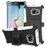 Силиконовый чехол экстрим защита для Samsung Galaxy S6 Edge Белый